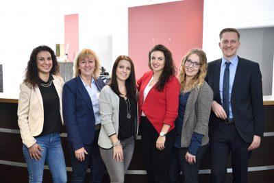 Das Select-Team Sulzfeld: Rafka Can, Daniela Hägele, Jennifer Mohr, Svenja Ganter, Andrea Illchmann, Daniel Covic (vlnr.)